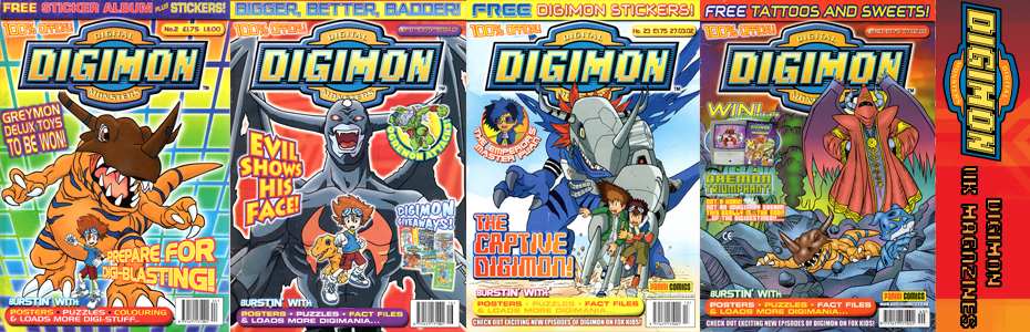 Digimon UK Magazine covers